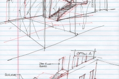 Lobby Stair and Entrance Sketch