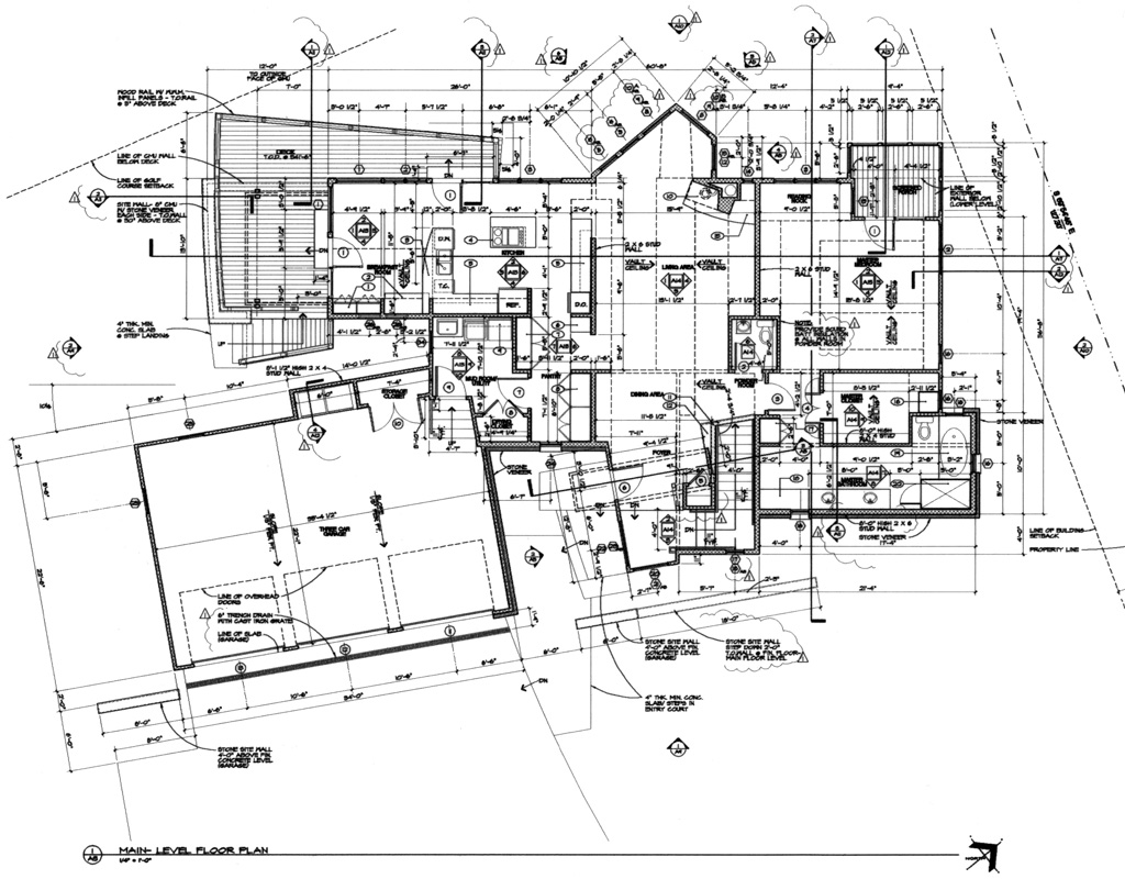 Main floor plan michael grogan architect for Professional house plans