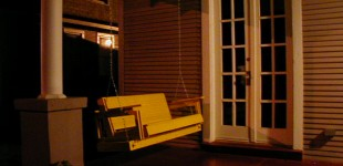CANARY YELLOW PORCH SWING
