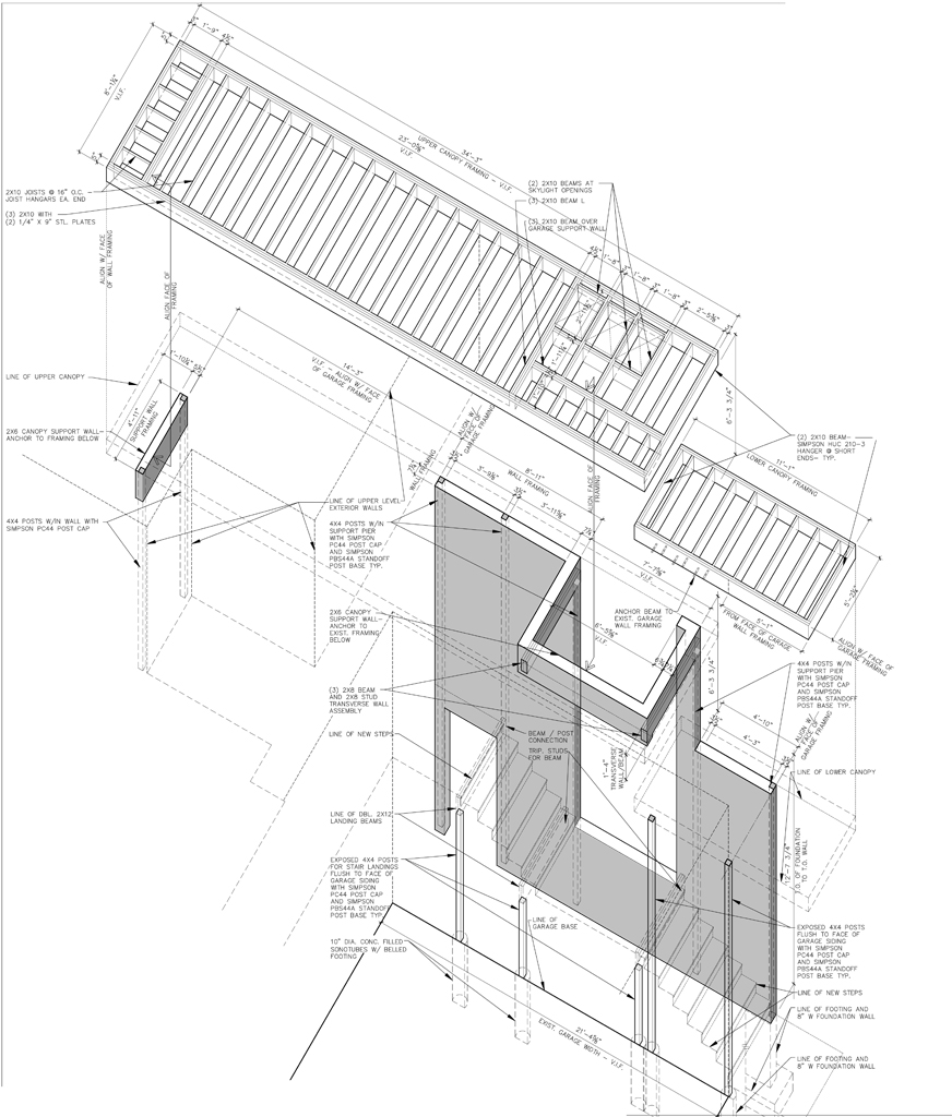 NEW YORK RESIDENCE » Canopy Framing Diagram  sc 1 st  Michael Grogan Architect : canopy framing - memphite.com